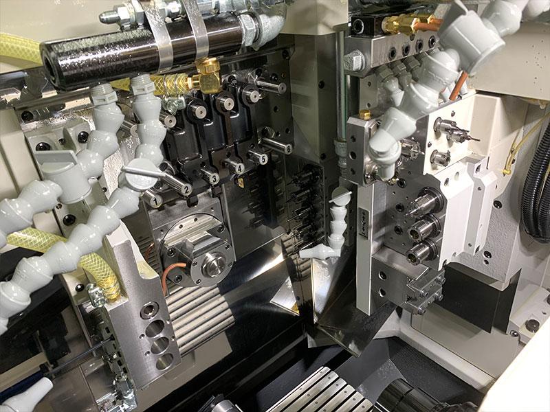 株式会社名高精工所の自慢の設備 -微細複合旋盤加工機(NOMURA DS NN-20J5)