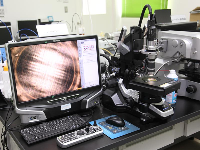 佐々木化学薬品株式会社の自慢の設備 -走査型電子顕微鏡、レーザー顕微鏡、マイクロスコープ